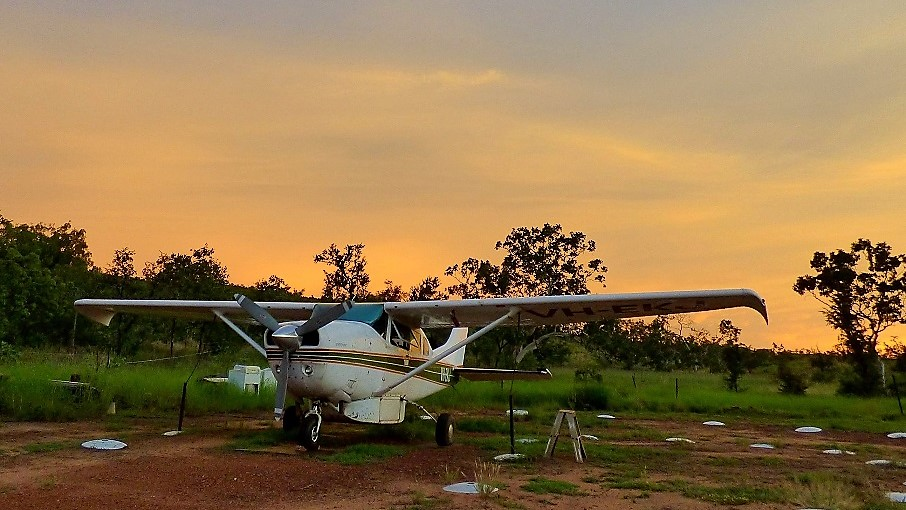 Our trusty old ute: VH-EKJ – Bob promises to keep her going until Chris stops flying.
