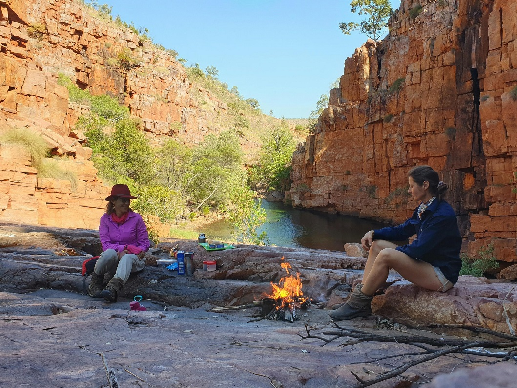 """Jacqueline and Bec """"gone walkabout"""""""