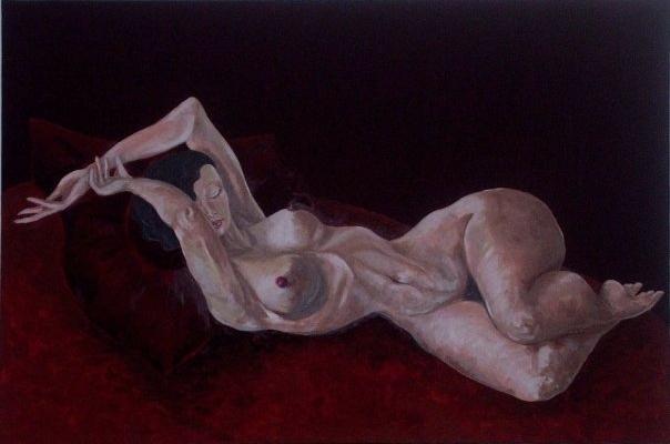 80x110 Gemälde Öl auf Leinwand