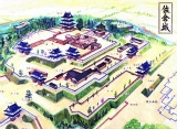 佐倉城のイメージ鳥瞰図