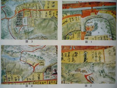 図1:あたご坂、図2:うるし坂、図3:くらやみ坂・ひよどり坂、図4:みそべやの坂
