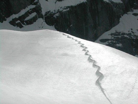 Kurze Schiabfahrt über den Eiskargletscher