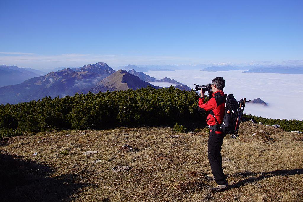 Am Gipfel mit dem Blick nach Westen