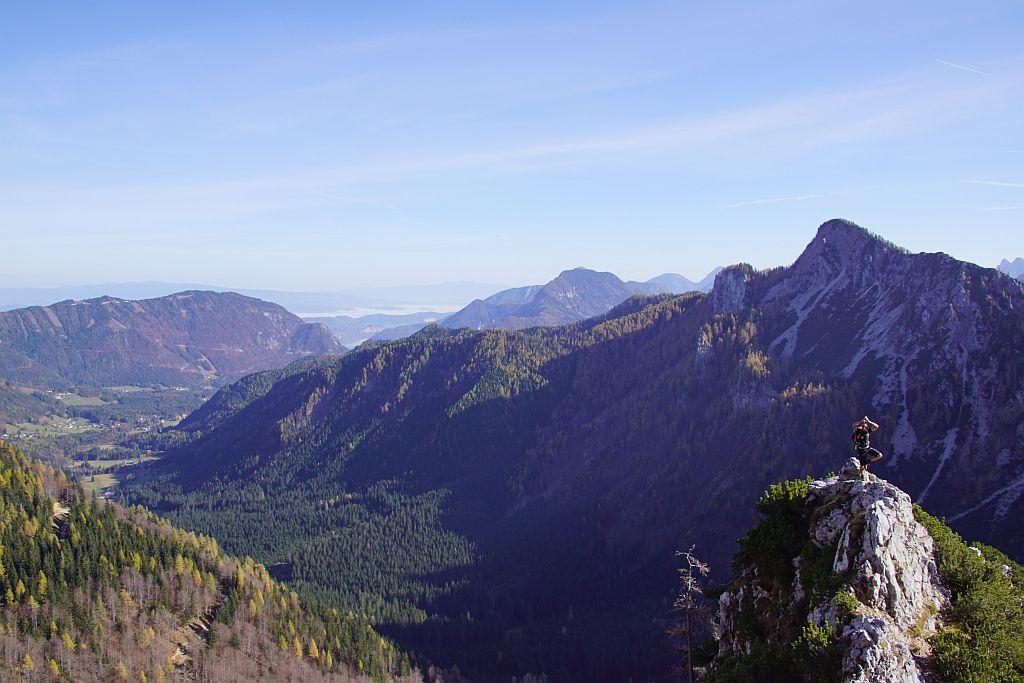Aufstieg über den Stinzesteig mit Blick übers Bodental hinaus ins Klagenfurter Becken