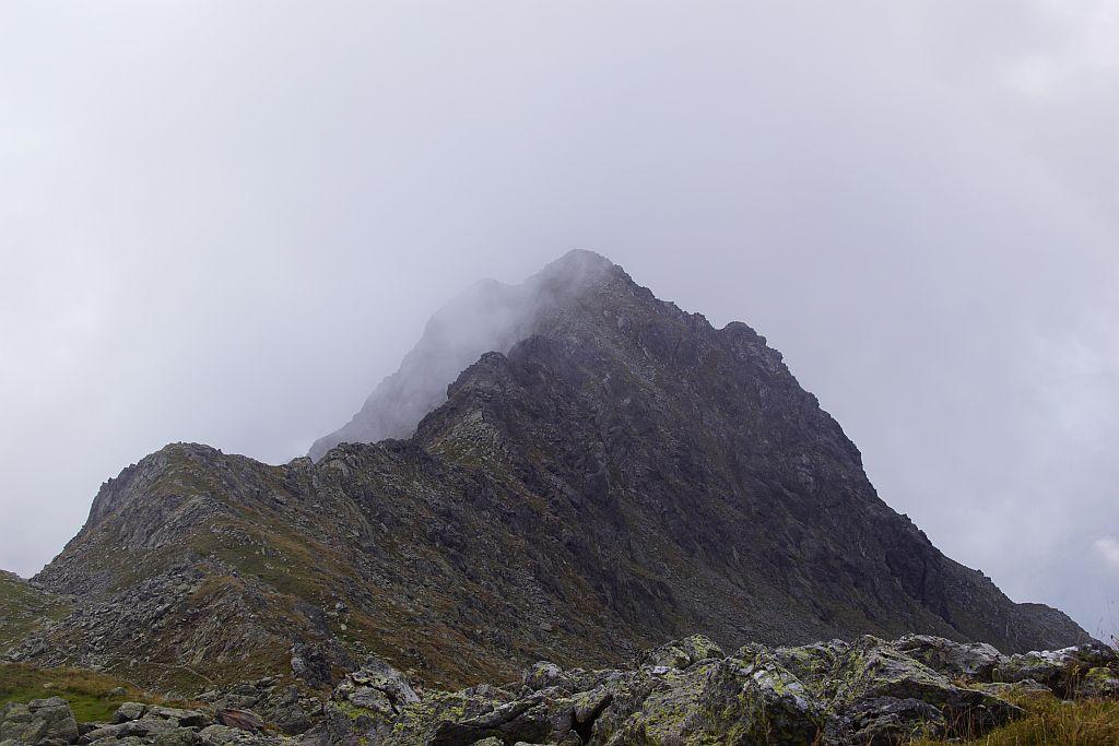 Rückblick über den Grat vom Stawipfel (Bild) zur Annaruhe