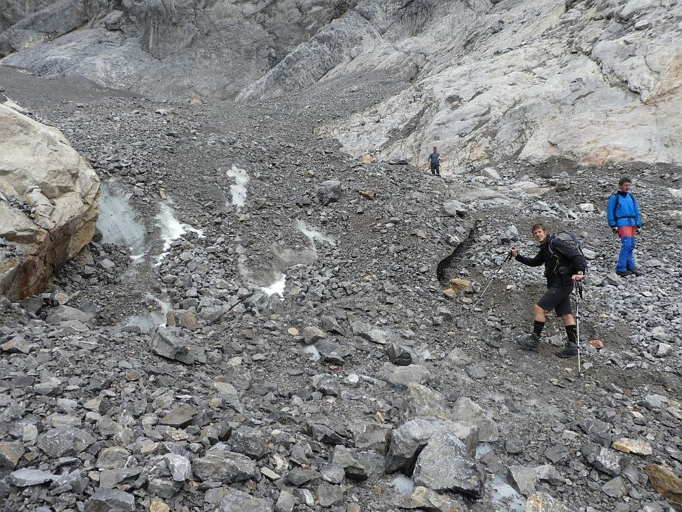 Die Gletscherzunge ist fast abgerissen (9. September 2017)