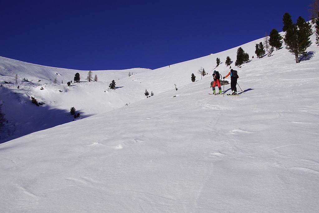 Aufstieg oberhalb der Bärentalhütte