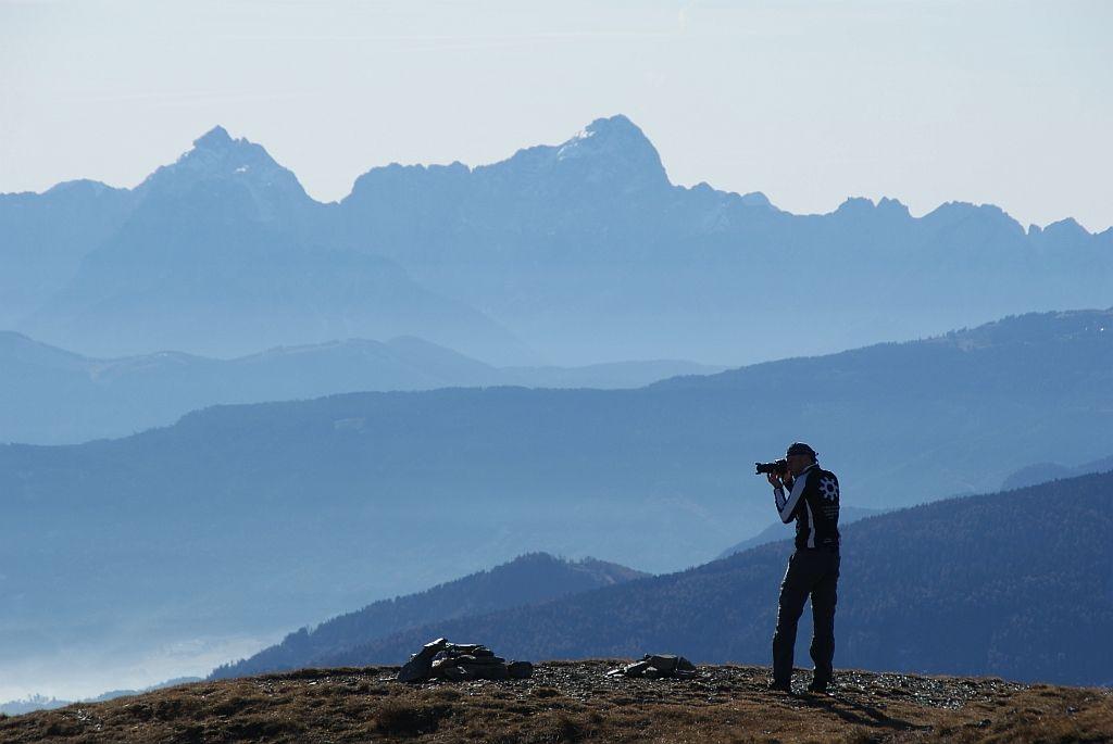 Im herbst ist dieser Gipfel einfach ein wunderbarar Fotoberg, im Hintergrund die Julier