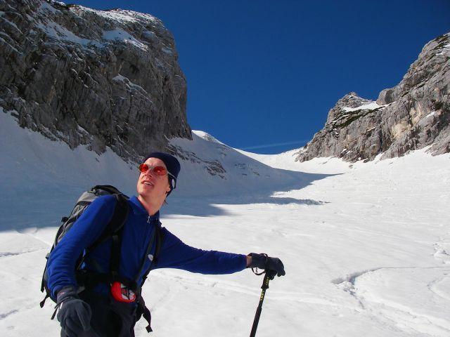 Aufstieg durch den westlichen Teil des Kars