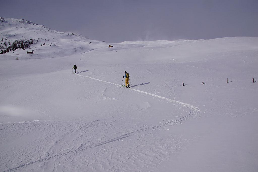Aufstieg im unteren Teil (links der Mohar)