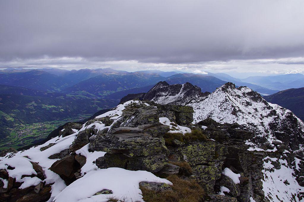 Blick vom Gipfel nach Osten