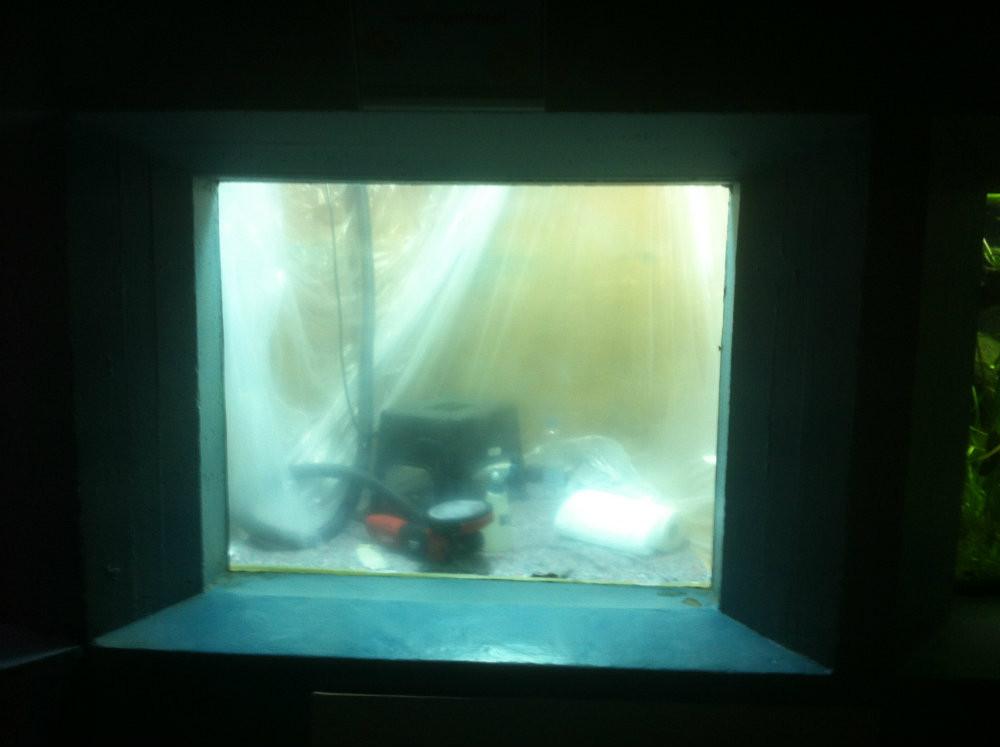 Geschliffene Aquariumscheibe