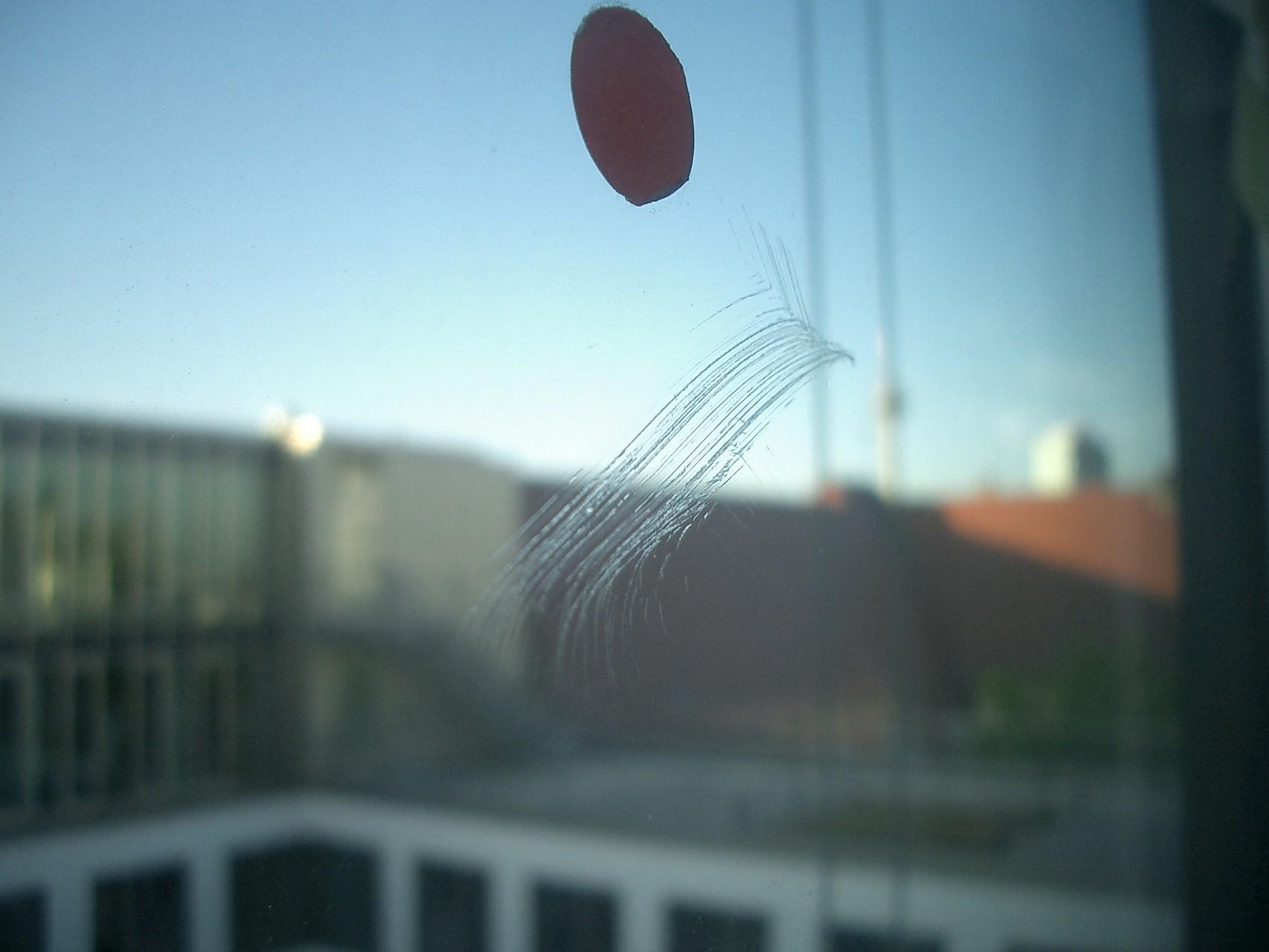 Glasschaden durch Glaskratzer - Kratzeranhäufung winkel