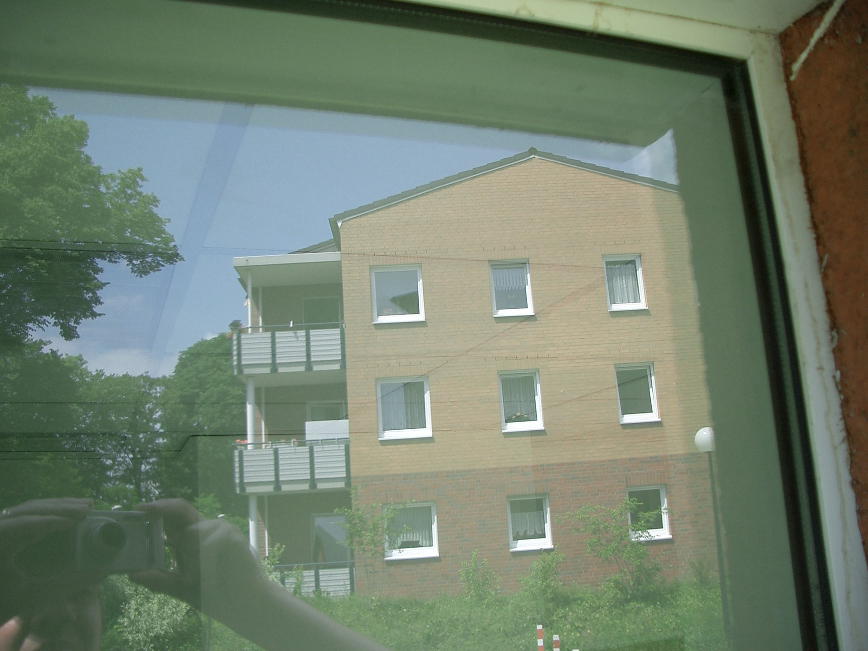 GLASRENOVATION - Glasverätzungen durch Betonauswaschung - nachher