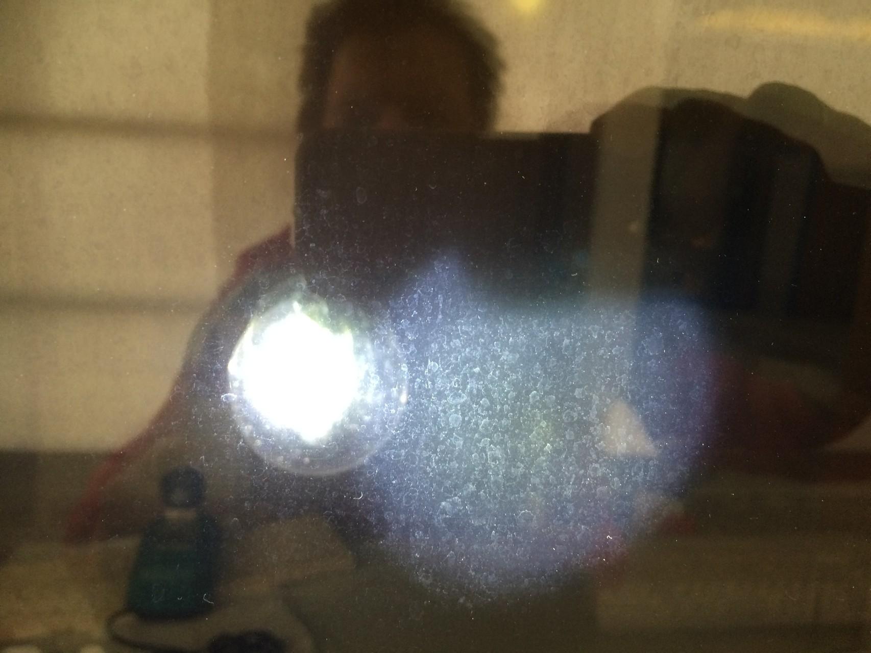 Glasverätzung in Nahaufnahme
