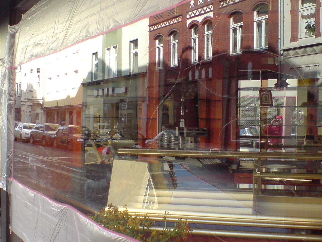 Glaskratzer durch Vandalismus - Schaufenster