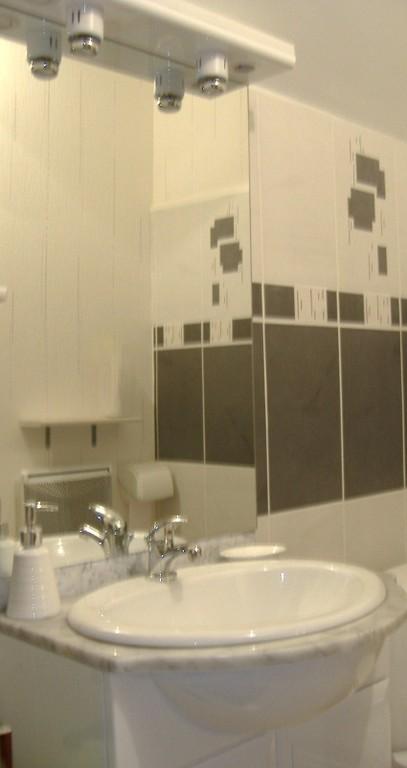 The adjacent bathroom