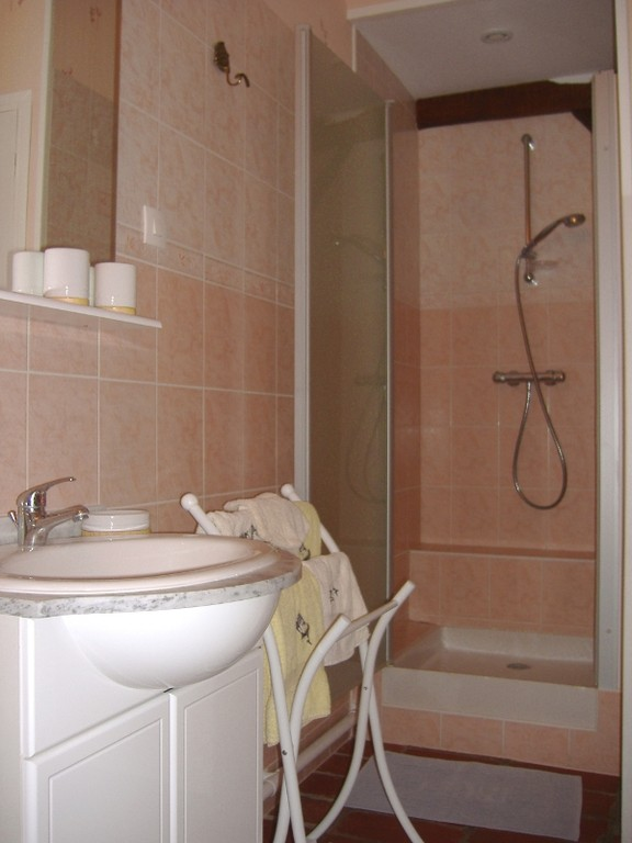 La salle de bain adjacente
