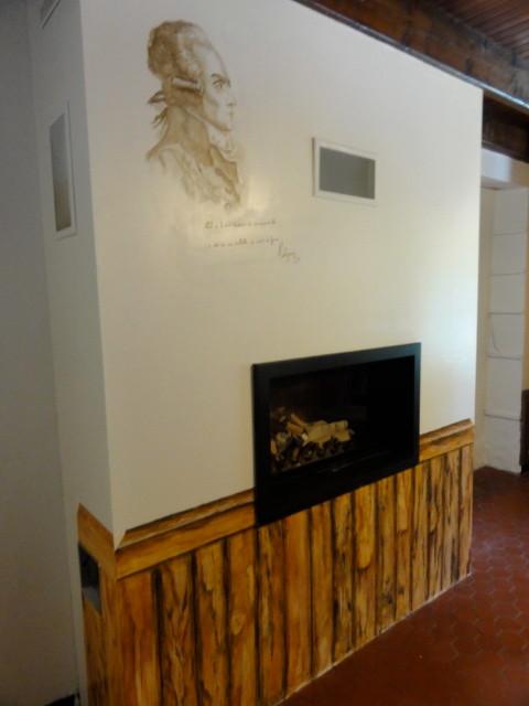 Décoration d'un insert de cheminée