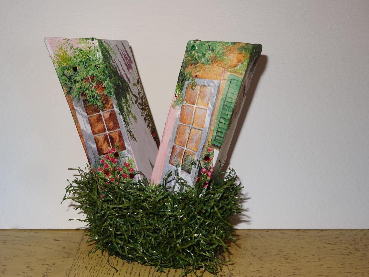 Lettre décorative carton