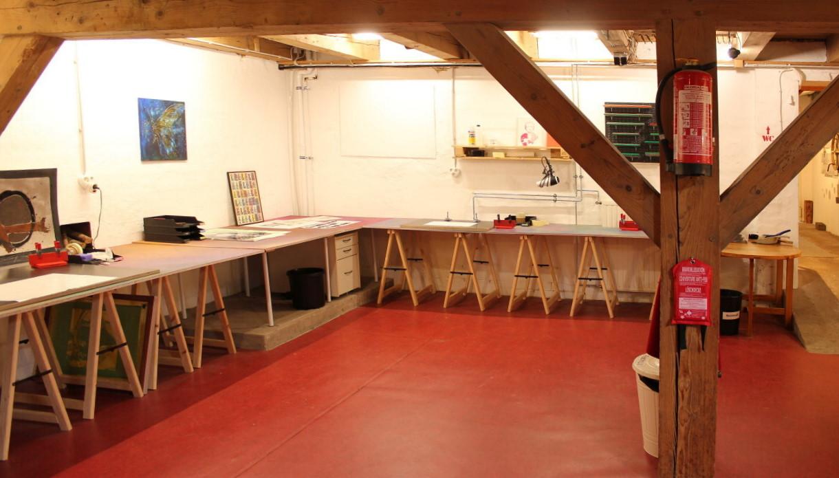Unteres Stockwerk/Siebdruckbereich (Schierbrok)