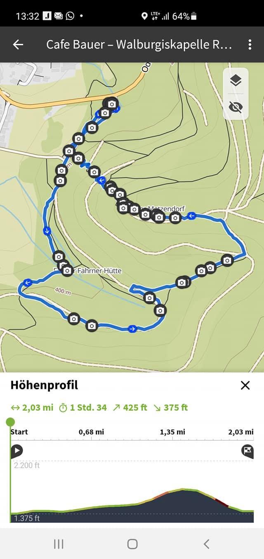 Bergauf und bergab bei Weschnitz