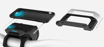 Sie können Ihr Smartphone ganz einfach per COBI Hub am Lenker montieren