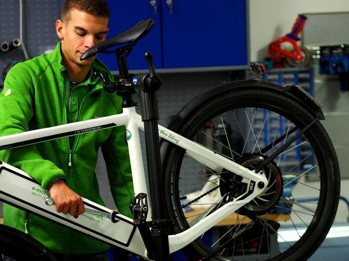 Kompetente e-Bike Wartung, Reparatur und Service