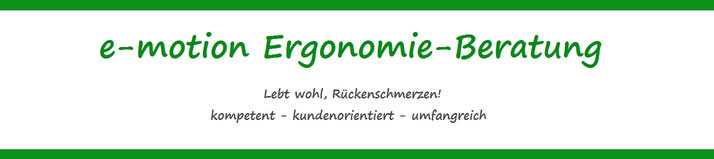 e-motion Ergonomie-Beratung