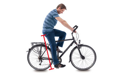 Satteleinstellung beim e-Bike