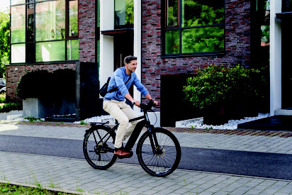 Für den Verkehr gerüstet - e-Bike
