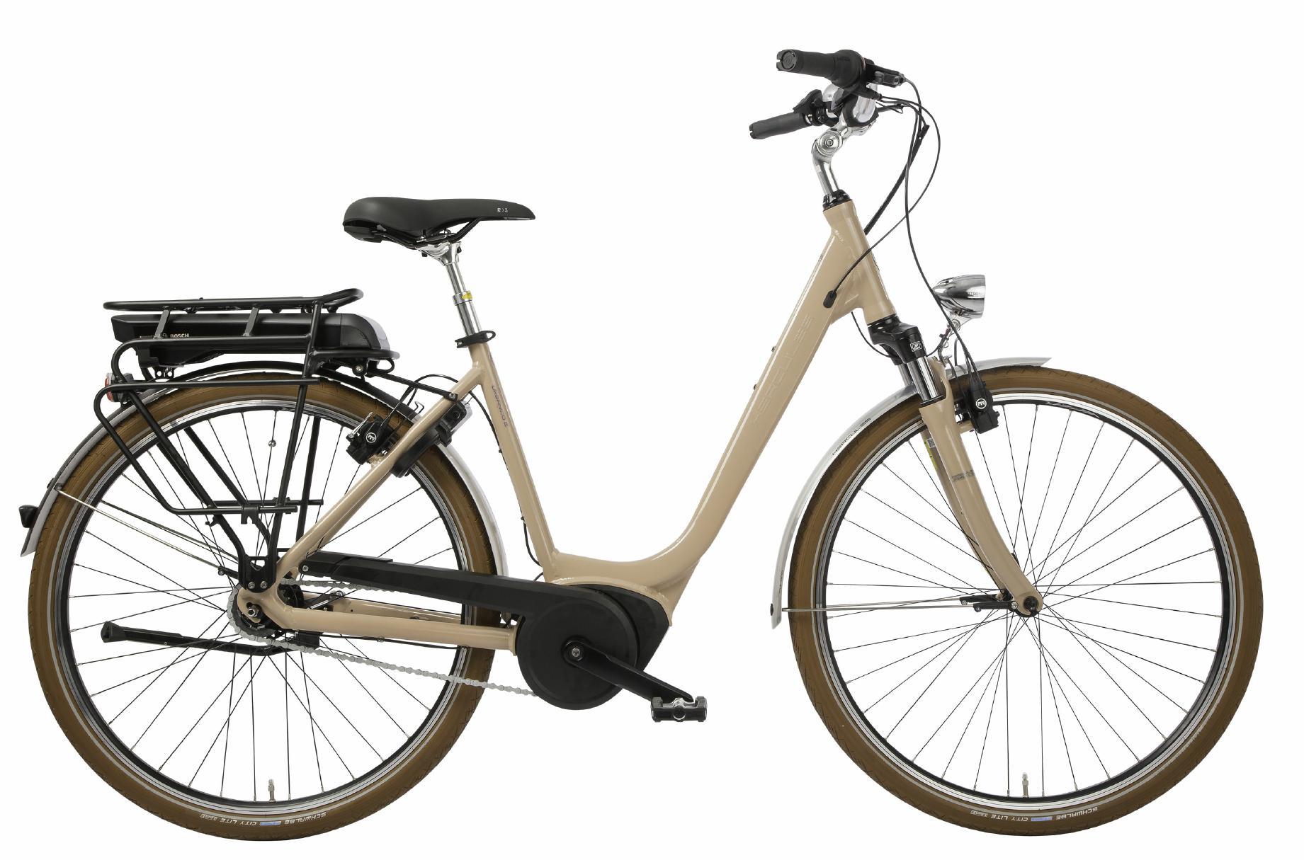 Hercules Urbanico E F8 - City e-Bike 2019 - Tiefeinsteiger sand
