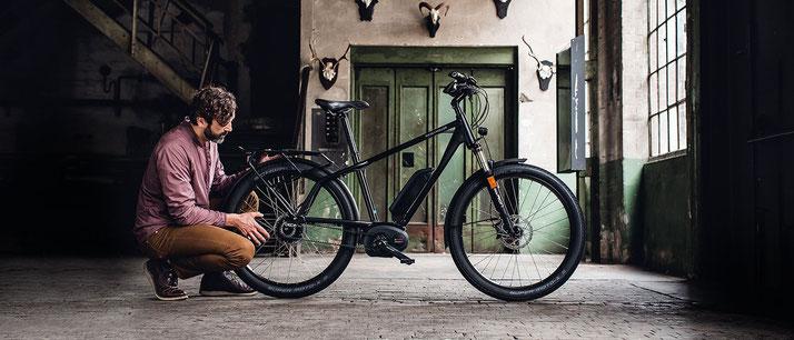 e-Bike mit Rahmenform Diamant