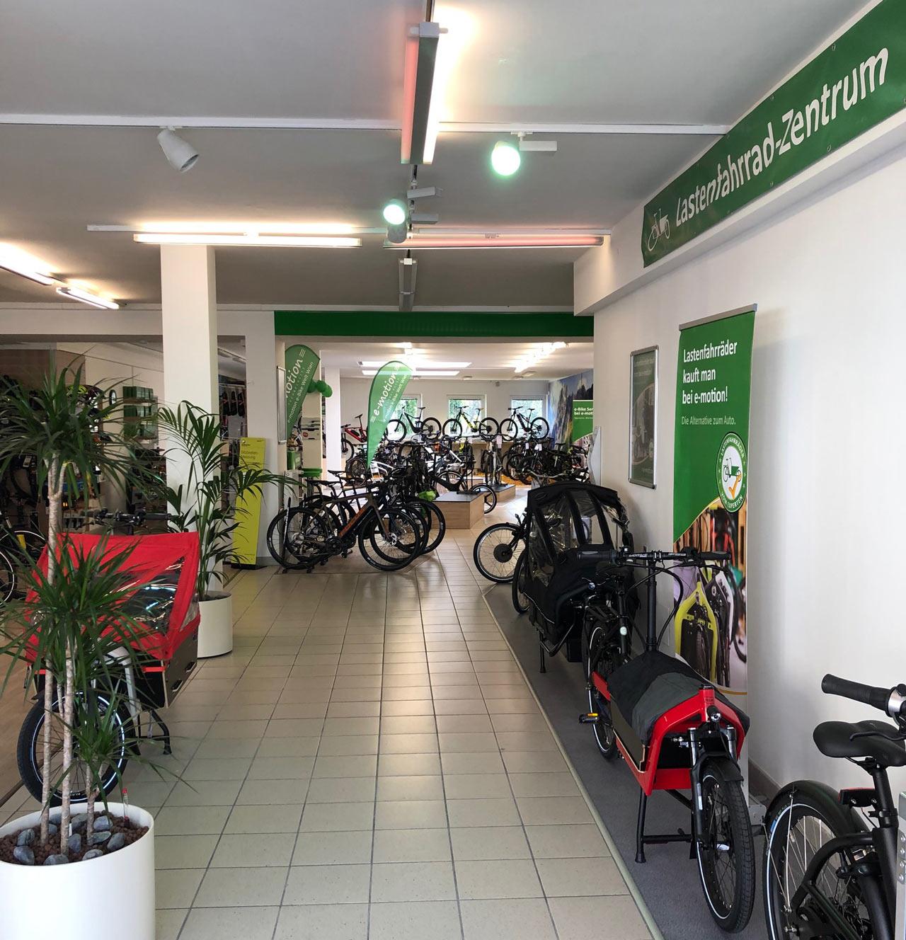 Cargo e-Bikes in der e-motion e-Bike Welt in Wien - Österreich
