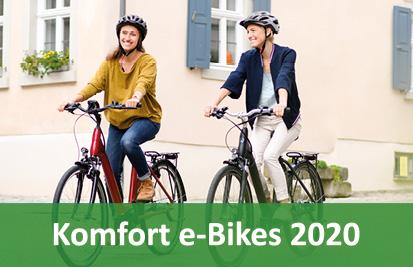 City/Komfort e-Bikes, Pedelecs und 45km/h S-Pedelecs