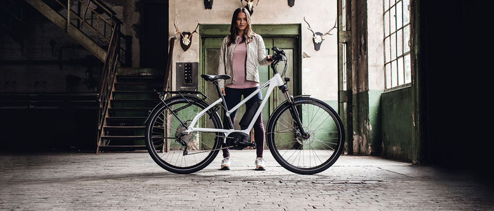 e.Bike mit Mixte Rahmenform