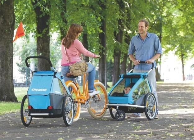 e-Bike und Kinderanhänger