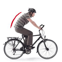 Wirbelsäule auf dem e-bike