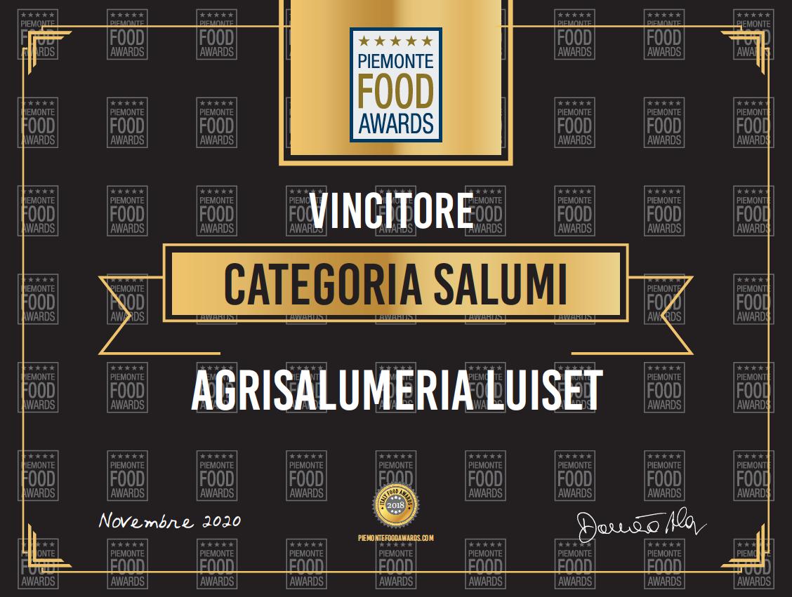 Piemonte Food Awards 2020: conquistato per la terza volta il primo posto!!