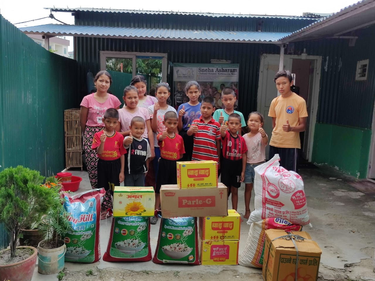 Kinderheime wurden mit Lebensmitteln versorgt