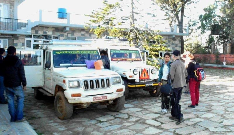 Übernachtung in Tamghas, weiter in drei Geländewagen