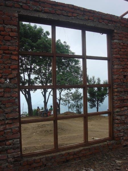 Blick aus dem Fenster des Gemeinschaftsraums