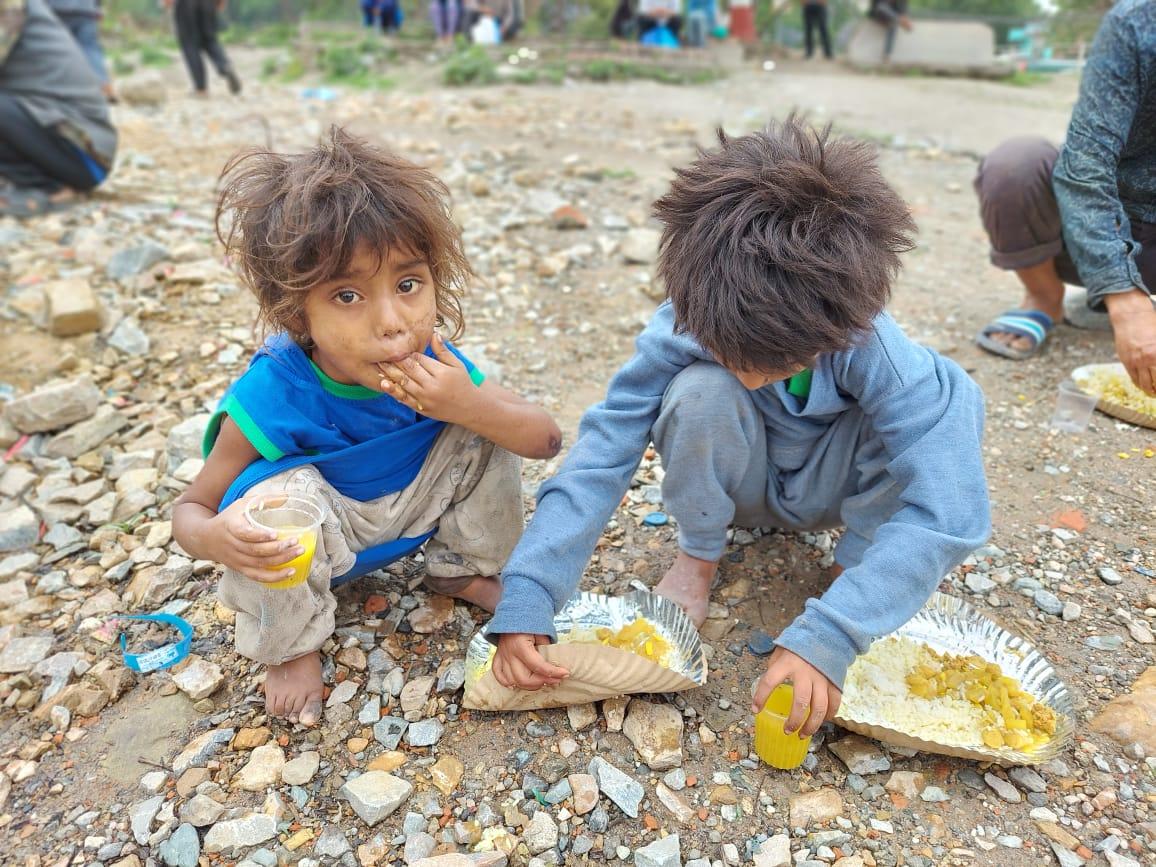 Besonders die Kinder waren vom Hunger stark betroffen