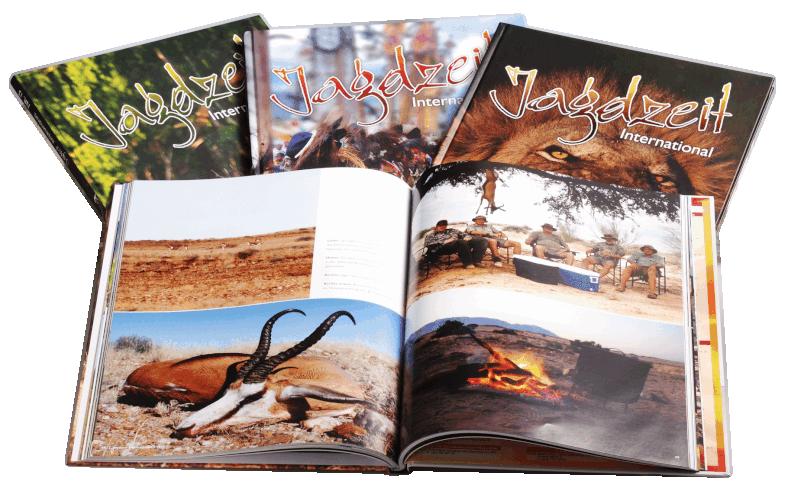 Jagdzeit International Ausgaben in Hardcover mit Lesebändchen