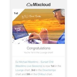 Dj Michael Maretimo - Mixcloud Charts Number 1