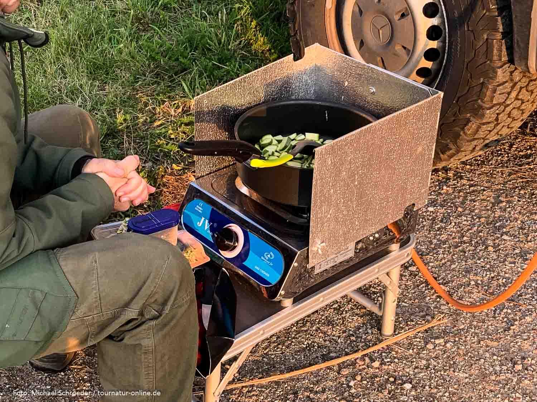 Turbo-Gasgrill  und Kocher für draußen (30 und 50 mbar)