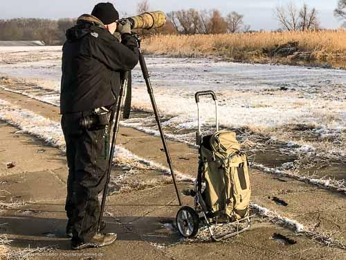 Rollwagen, nicht nur für Fotoausrüstung und Spektiv
