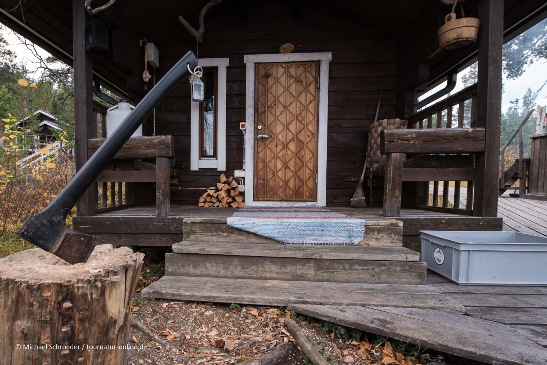 Sauna mit Blick auf den See