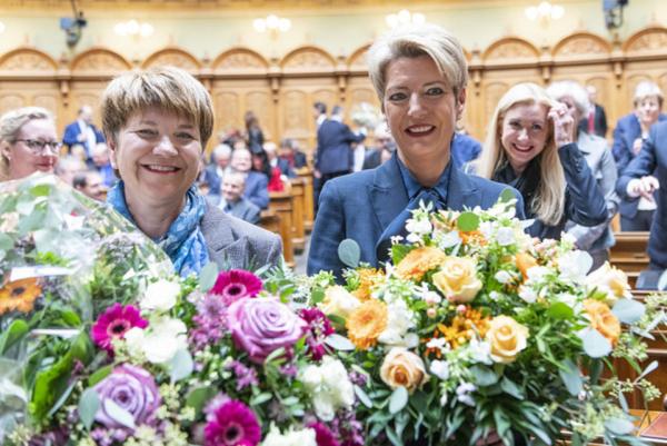 De gch à dr. : Viola Amhert et Karin Keller-Sutter