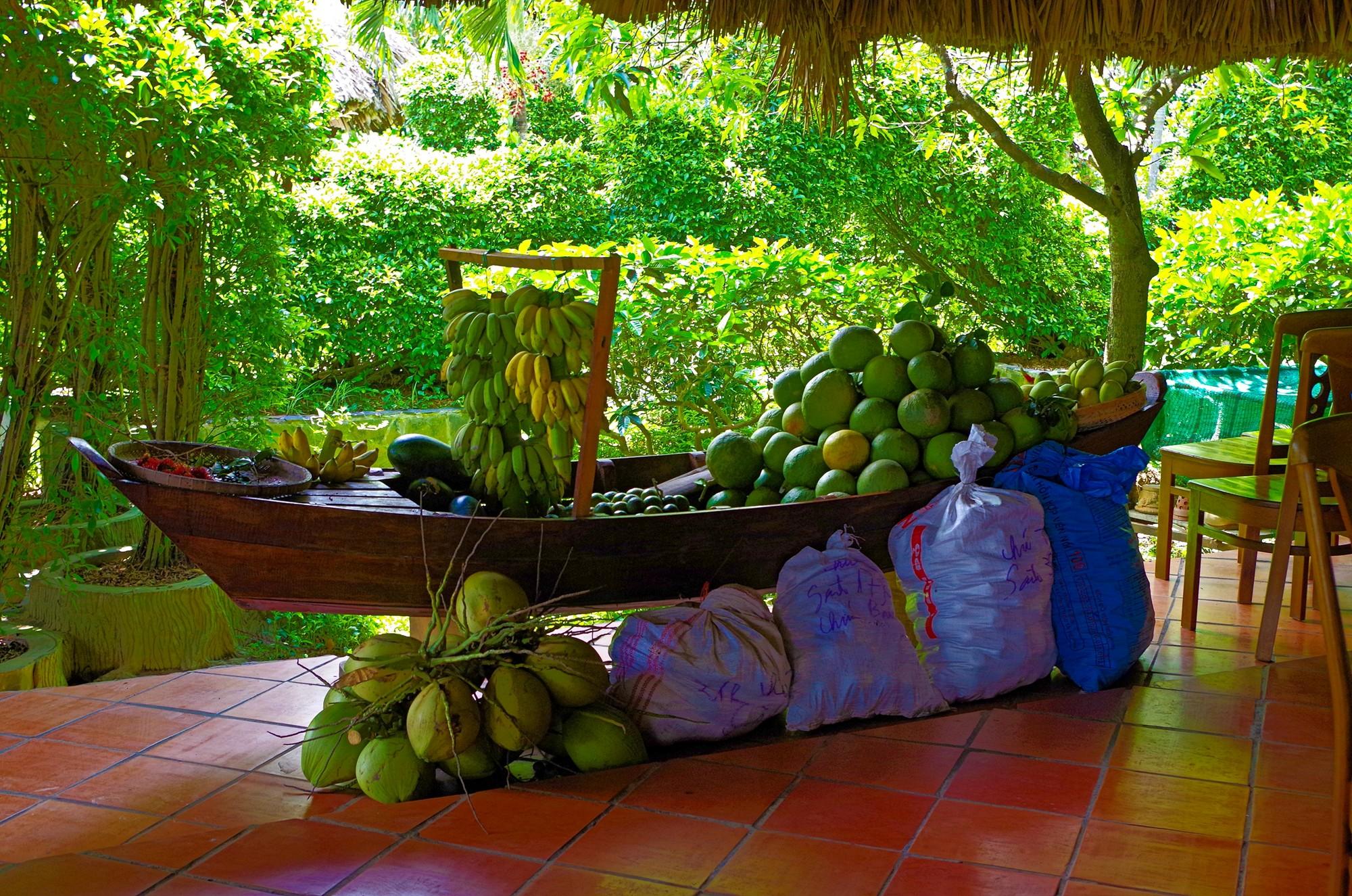 Corbeille de fruits restaurant Mekong Lodge